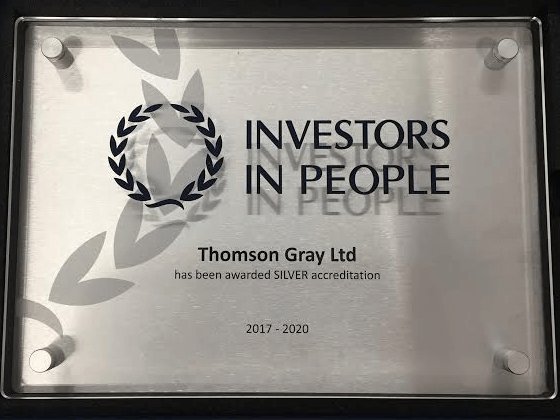 This is an image of Thomson Gray's Silver IIP award.