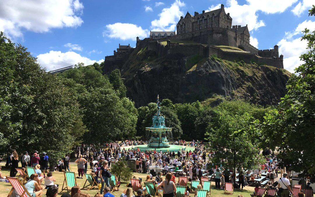 The fabulous Ross Fountain has finally been reopened again in Princes St Gardens