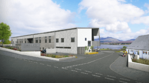 Rendering of new Skye hospital at Broadford