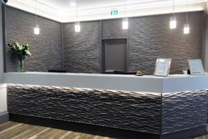 Reception area – Bruntsfield Hotel refurbishment