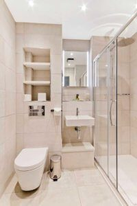 Ensuite bathroom – Bruntsfield Hotel refurbishment