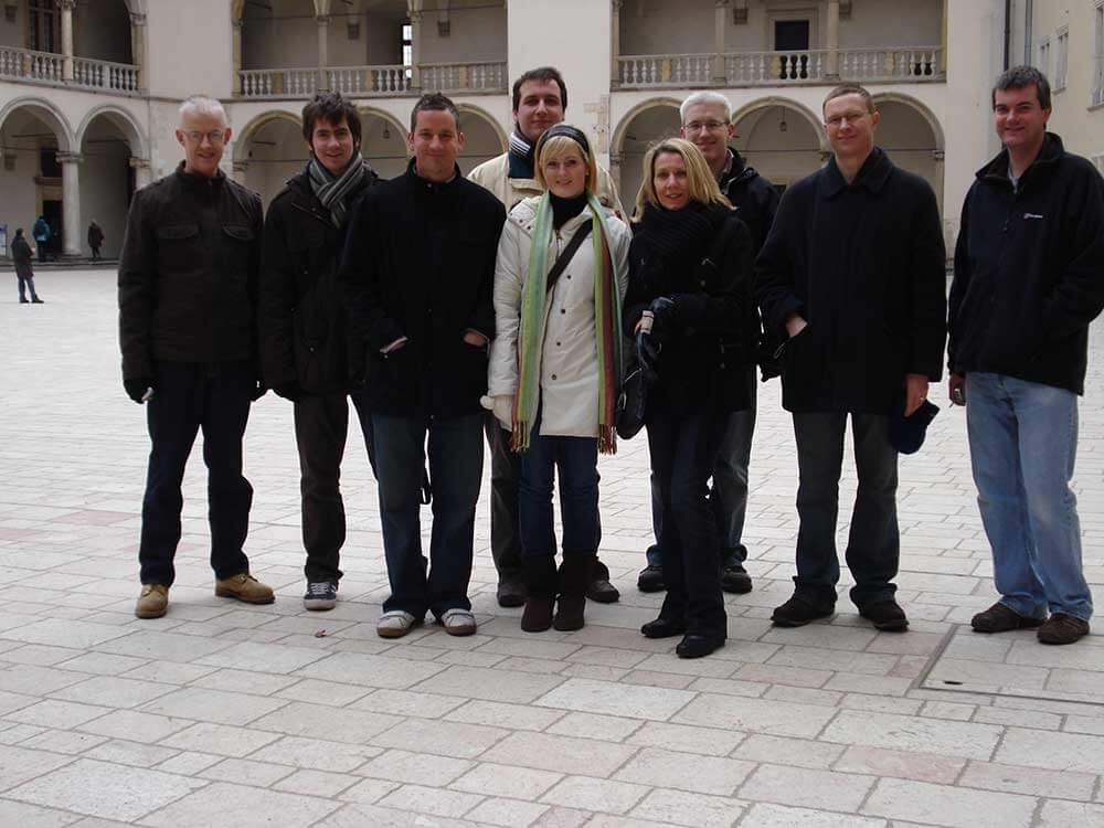 Thomson Gray staff on the Krakow trip in 2008