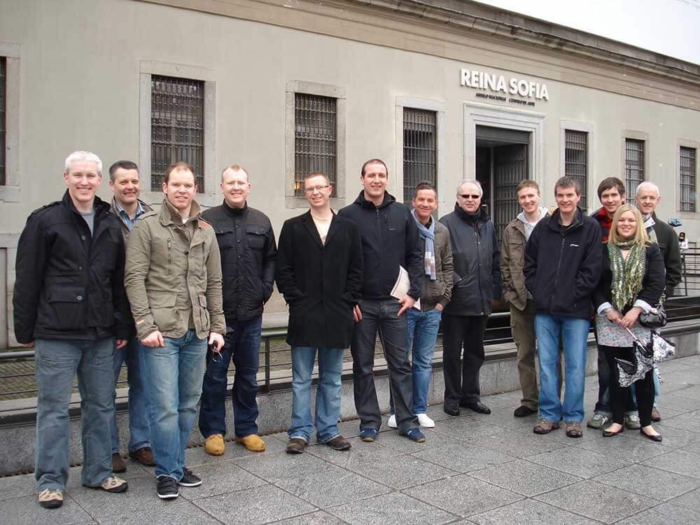 Team photo on Thomson Gray trip to Madrid in 2010