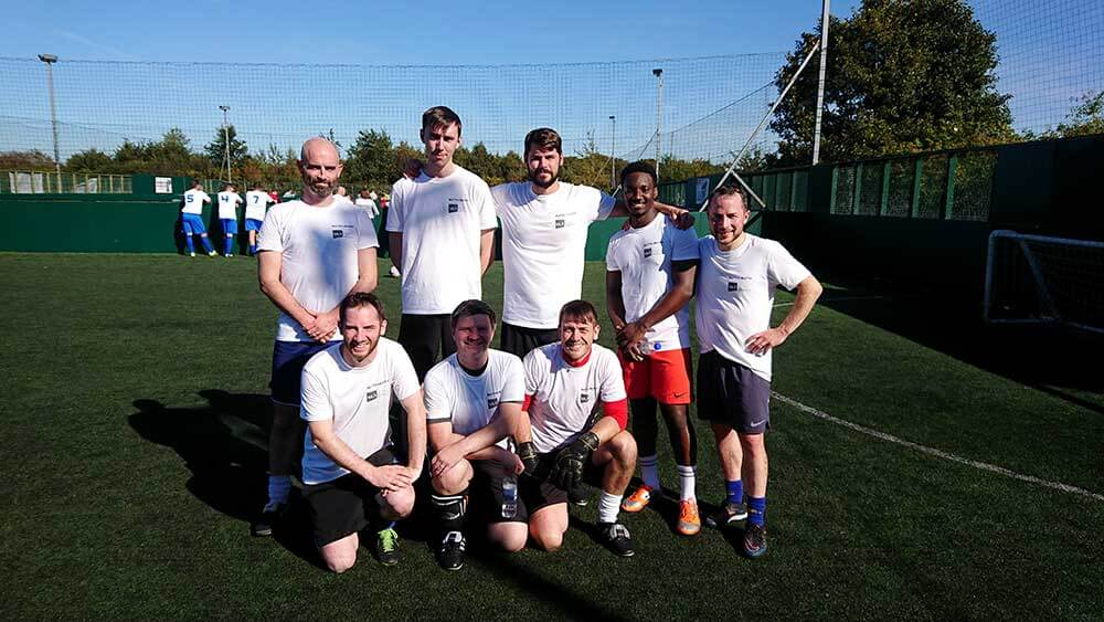 Blyth & Blyth and Michael Laird Architects five-a-side football team